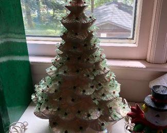Large White Ceramic Christmas Tree