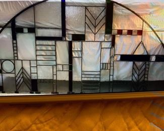 Beautiful arched stained glass window 5 Feet long