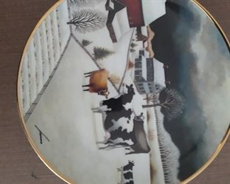 "Collectible Folk Art ""Holy Cow Plates""."