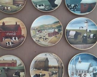 "Folk Art Collectible ""Holy Cow Plates""."