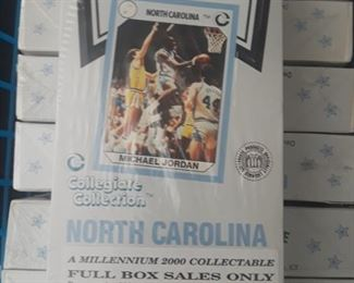 Basketball trading cards.