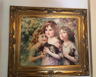 Framed canvas art giclee  Artist: Emile Vernon