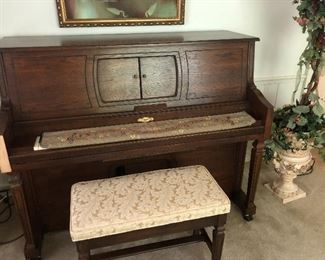 Aeolian player piano with bench