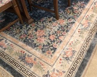 Dining room Aubusson rug