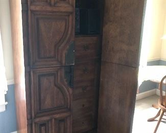 Large unusual bedroom armoire
