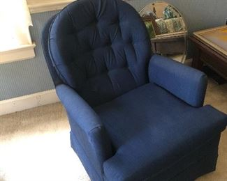 Blue bedroom chair
