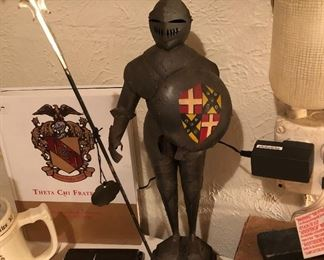 Knight in shining armor statue