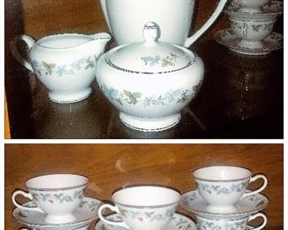 Vintage, Fine China of Japan  pattern#6701 circa1967 Total 88 pieces, Tea Service for 12.