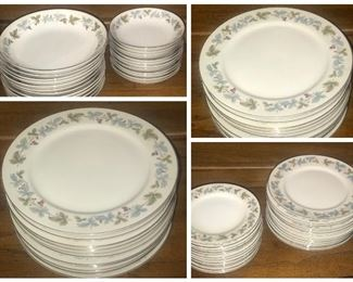Vintage, Fine China of Japan  pattern#6701 circa1967 12dinner, 12salad/dessert, 12bread,  12soup/cereal bowls, 12berry bowls