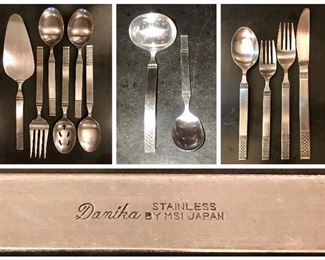 Vintage Stainless Flatware set 42pieces MCI  pattern: Danika, Celtic Knot