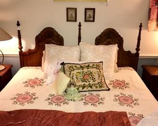 Vintage embroidered bedspread