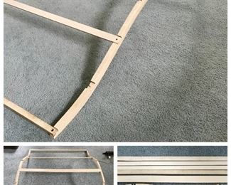 Vintage wood hinged bed canopy frame