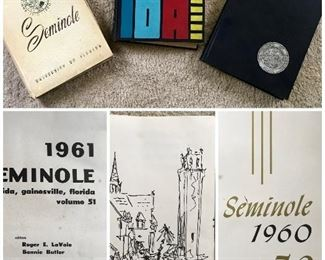 Vintage University of Florida yearbooks 1960, 1961, 1962