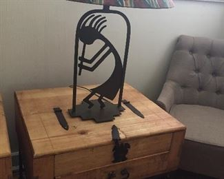RUSTIC END TABLE - LAMP SOLD