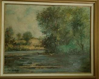Summer scene, Gathman Painting