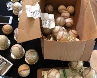 Baseballs found in attic
