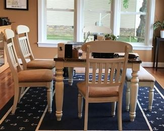 Country Style Dining room Table-4 Chairs-1 Bench