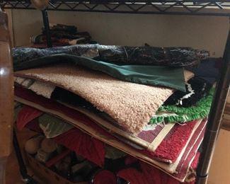 Seasonal door mats, dining linens