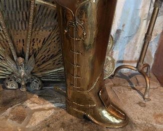 Brass boot made in Spain