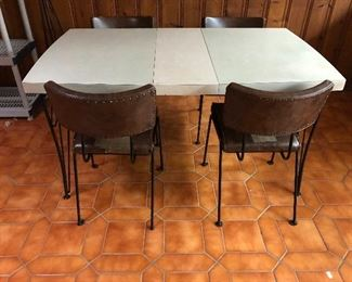 Vintage table, chairs