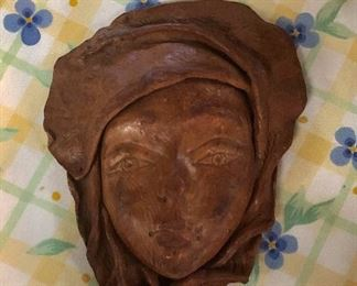 Solid Leather Molded Ladies Face/Head
