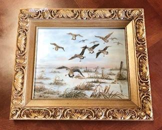 """Framed Porcelain Oil Painting (13"""" x 11"""")"""