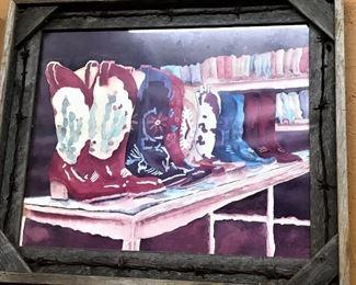 Original western boots watercolor