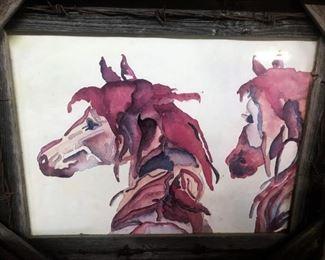 Original horse watercolor