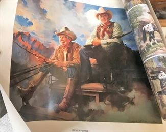 One of several quality western prints, some signed, in original shipping tubes