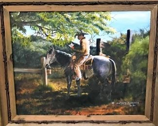Original framed and signed painting by Anthony Hinojosa