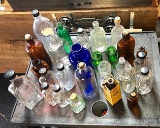 Collection of Vintage Bottles