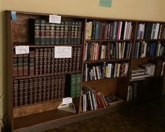 Books! Even this bookshelf is for sale.