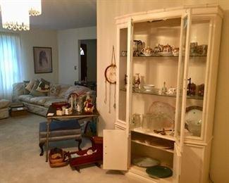 Crystal, poreclain, vintage items