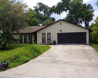 2410 Mango Tree Drive, Edgewater, FL  Home is for sale but not through our estate sale.  3 Bedroom, 2 Bath, Split Plan.  Contact Tammy Bowen, Realtor, 386-690-1959 for information
