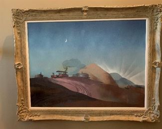 """DALE NICHOLS 1949 """"Early Risers"""" Oil on Canvas - 30"""" x 40"""""""
