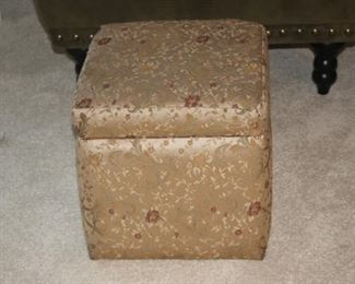 Storage foot stool.
