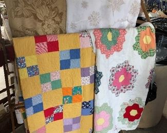 Beautiful hand-stitched quilts