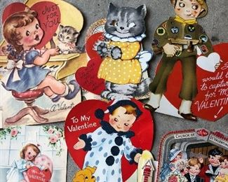 Lots of vintage Valentines