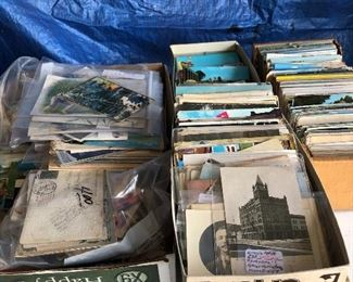Lots of vintage postcards!