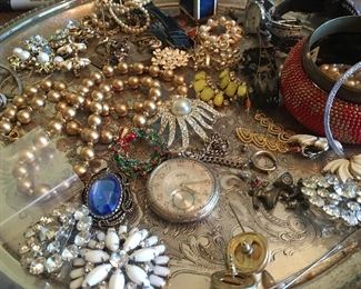 Beautiful vintage costume jewelry