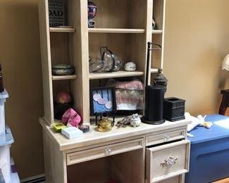 Desk, armoir