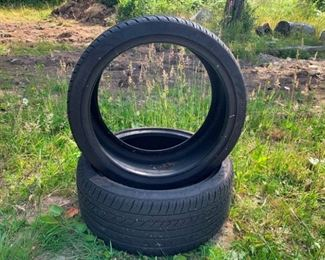 Two Like New Matching Nankang Noble Sport NS-20 Tires: 245/95Z/19