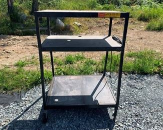 Bretford Inc. Multi-Use Cart on Casters and Electric Hook Up and Cord