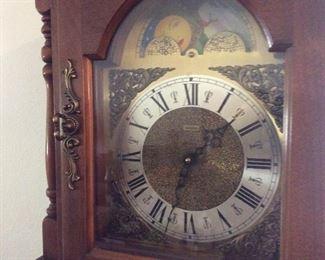 Face close up grandfather clock