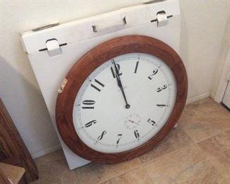Large hanging clock