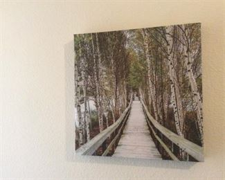 Small wrapped canvas art