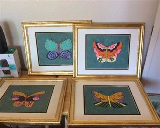 LAUREL Burch style butterfly paintings