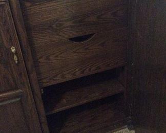 Interior of armoire