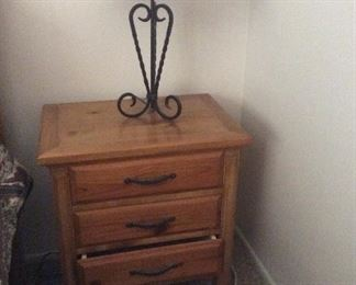 Matching side table for bedroom set