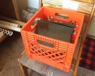 Orange file crate